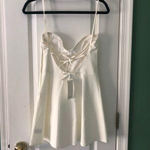 Tobi ivory mini skater dress